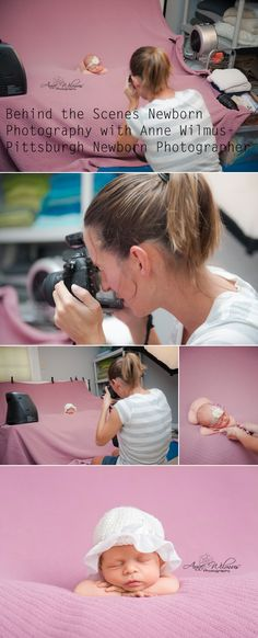Newborn Photography behind the scenes, Anne Wilmus Photography, Pittsburgh newborn photographer, studio light
