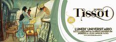 """""""Donne bellissime immerse in giardini fioriti, con abiti sontuosi a teatro, eleganti in viaggio, circondate da bambini in festosi pic nic: è l''800 ricco e felice di James Tissot in mostra per la prima volta in Italia fino al 21/2 al Chiostro del Bramante"""" #JamesTissotRoma   Info http://chiostrodelbramante.it/info/james_tissot/"""