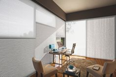 Australia's most energy-efficient window covering, Luxaflex Duette Architella Ménage Shades.  #luxaflex #duette #interiordesign