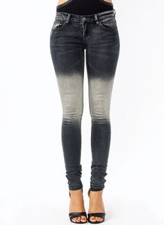 Totally Faded Skinny Jeans