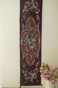 RESERVED FOR PW  This is the most exquisite Victorian beaded woolwork runner, rare to see a piece this large. Simply incredible work. It measures