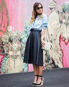 Look inspiração ❤ Esse tipo de sapato é uma graça ❤ O que vocês acharam do look? (Fiquem atentas quando eu encontrar lojas parecidas eu marco na foto)  _______________________________ #meninaprudente #modagospel #estilogospel