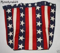 Longaberger Cracker Basket Liner All American Stars /& Stripes SU