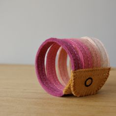 Berries wool felt cuff bracelet, via Etsy by LoftFullOfGoodies