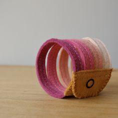 Wool Felt Bracelet Wristband Cuff // Berries // LoftFullOfGoodies. $14.00, via Etsy.