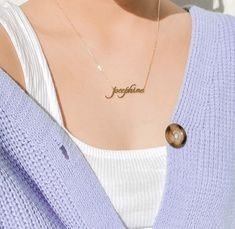 Every girl needs a unique jewelry for the special day. Girls Jewelry, Jewelry Gifts, Unique Jewelry, Jewellery, Thin Gold Chain, Accesorios Casual, Custom Name Necklace, Nameplate Necklace, Silver Gifts