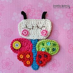 Ravelry: Butterfly appliqué pattern by Vendula Maderska