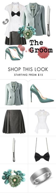 """""""The Groom"""" by xedilian ❤ liked on Polyvore featuring L'Autre Chose, Gianmarco Lorenzi, Alexander McQueen, Elisabetta Franchi, Vagabond House, Freena, Linglady, Blue Nile, gaming and horror"""