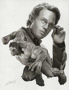 Bruce Banner the Hulk art