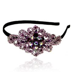 Prom Collection Crystal Romance Hairband Purple - 4EverBling