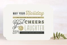Merende Business Holiday Cards by chocomocacino at minted.com