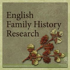 Researching your Family History in England. These are some of our favourite websites and hints to help to trace your family. www.memoriesintime.co.nz