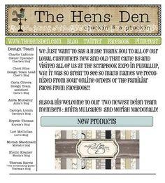 The Hens' Den August 2012 newsletter