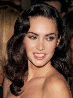 Heavenly Vintage Wedding Blog, hair to complement a 1940s wedding dress - Megan Fox