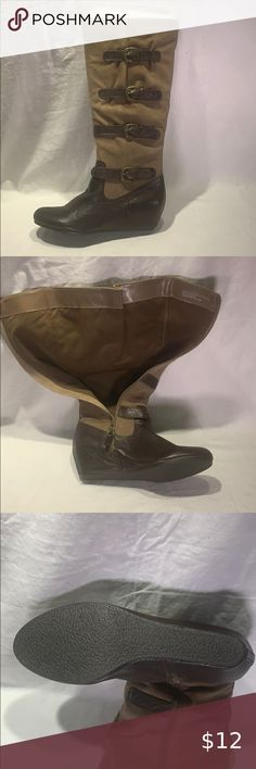 I just added this listing on Poshmark: Crown Vintage •Clover• Tall Leather Boot. #shopmycloset #poshmark #fashion #shopping #style #forsale #Crown Vintage #Shoes Black Moto Boots, Brown Riding Boots, Tall Leather Boots, Leather Riding Boots, Leather Flats, Leather Slip Ons, Brown Boots, Calf Boots, Knee High Boots