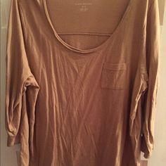 Lane Bryant 3/4 sleeve brown top Lane Bryant size 18/20 brown 3/4 sleeve tops worn once Lane Bryant Tops Blouses