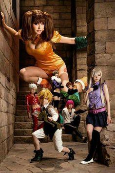 Cosplay grupal de los 7 pecados