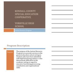 "Handout ""Designing and Implementing Programs for Students with High Functioning ASD"" Illinois Alliance of Administrators of Special Education Fall Conference handout 9/12. Main Site http://www.iaase.org/static.asp?path=3938  Pinned by SOS Inc. Resources http://pinterest.com/sostherapy"