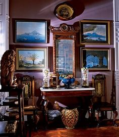 Fascinating NYC apartment of Gray Foy (1922-2012) Victorian Times in Midtown Manhattan : Architectural Digest