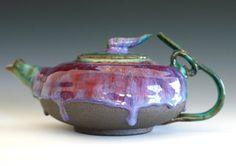 Tama Jewel Teapot Handmade Stoneware Teapot Holds 45 by ocpottery, $145.00