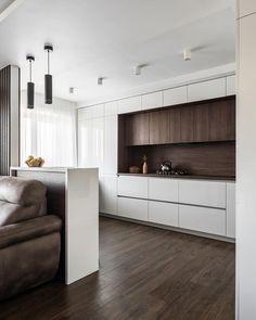 Luxury Kitchen Design, Kitchen Room Design, Contemporary Kitchen Design, Kitchen Cabinet Design, Home Decor Kitchen, Interior Design Kitchen, Modern Contemporary, Kitchen Cabinets, Small Apartment Interior