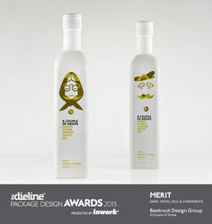 The Dieline Package Design Awards 2013: Dairy, Spices, Oils, Sauces, & Condiments, Merit - A Couple ofDrops