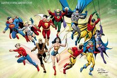 Justice Society/All-Star Squadron by Jerry Ordway. Featuring one of my favorite characters, Tarantula (John Law)