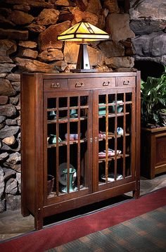 "'Grove Park Inn - Arts & Crafts Furniture  - Lifetime Bookcase (period) - Photo by Bruce E.  Johnson aka ""The Weekend Refinisher"""