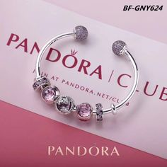 pandora light purple theme bracelet bangle