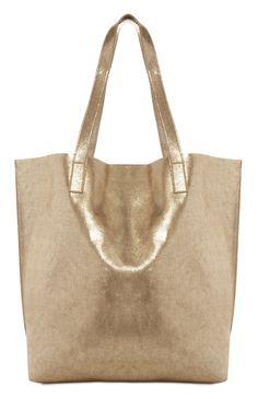 Primark - Gold-metallic schimmernde Einkaufstasche