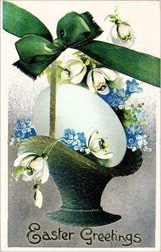 #Easter #antique #postcard #egg
