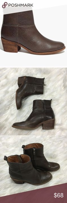 Madewell Perrie Boot SZ 6 Brown Ankle #B2070 Brand: madewell  Style: brown Perrie ankle boot  Size: 6  GUC some ware shown in pictures only one flaw to the leather   Questions welcomed. Fast replies. Same day shipping 💄 Happy Poshing 686 Madewell Shoes Ankle Boots & Booties
