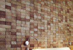 Wood Block Wall Design
