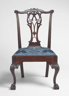 Side Chair - Attributed to Thomas Affleck, American (born Scotland), 1740 - 1795. Possibly carved by James Reynolds, American, c. 1739 - 1794. - Made in Philadelphia, Pennsylvania, 1763-1772,   Mahogany, white cedar, cherrywood,  Dimensions: 39 1/4 x 24 1/4 x 22 1/2 inches (99.7 x 61.6 x 57.2 cm) Seat: 17 1/2 x 22 1/2 x 17 1/8 inches (44.5 x 57.2 x 43.5 cm)