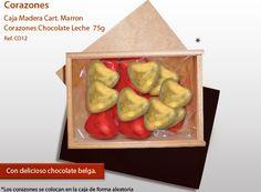 ¡Déle a su ser querido una caja de corazones de chocolate! ¡Quién va a resistir! Vegetables, Bonbon, Candy, Messages, Chocolate Hearts, Different Types Of, Wood Crates, The Originals, Shapes
