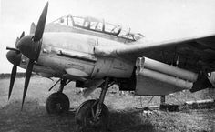 The Hungarian 102. repülődandár (?) one of the Me-210 aircraft a field Airport