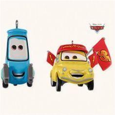 Hallmark 2008 Luigi and Guido: Race Fans - Set of 2 Ornaments - Cars - #QXD4244 #Hallmark