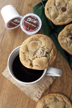 Coffee Chocolate Chunk Cookies | Wishes and Dishes