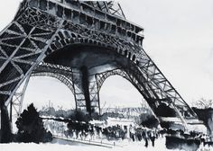Eiffel tower. Paris. Watercolor painting / Aquarelle. By Nicolas Jolly. #drawing #watercolor #painting #art