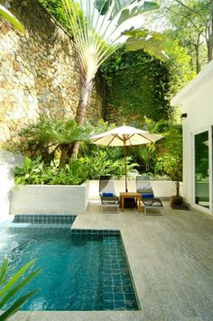 Here are 40 truly awesome yet easy to construct DIY swimming pool ideas to turn your backyard into a dose of refreshment! tags: backyard ideas, swimming pool design, backyard pool ideas on budget, small backyard pool, backyard pool lanscaping. Amazing Swimming Pools, Small Swimming Pools, Small Backyard Landscaping, Small Pools, Swimming Pools Backyard, Swimming Pool Designs, Backyard Patio, Small Backyards, Backyard Ideas