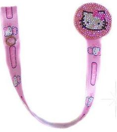 Bling Hello Kitty Pacifier Clip,