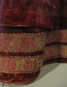The red Pisa dress, seen from different angles. #1. Main info on this at   http://aneafiles.webs.com/renaissancegallery/extant.html