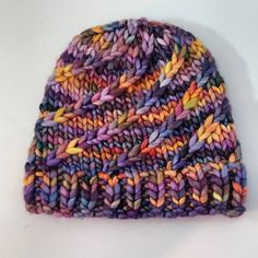 Mega Spun is the giant size version of Spun, my original spiral knit hat. Knit in the round with Super Bulky weight yarn and can be completed in one day. The perfect pattern when you need some instant gratification! This would be the perfect Hat for gift/holiday knitting.