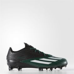 pick up 69a38 d34ef Adidas adizero 5-Star 5.0 Cleats (Core Black  Running White  Dark Green