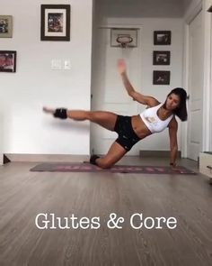 Glúteos & Core ‼Try this amazing workout at home 😉 with ankle weights (mine are 5 lbs each one)Try doing 3 rounds of each exercise - 8 - 10 reps per round with each leg - in total 20 reps per round) 🙌🏻 Gym Workout Videos, Fun Workouts, At Home Workouts, Chest Workout Women, Fitness Workout For Women, Workout For Beginners, Glutes, Yoga, Friday