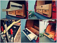 Selbstgemachte Heckschublade für den Camper #Campingmobil #Busausbau #selbstmachen #vanlife