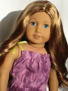 Stunning Custom American Girl Doll TM 49 blue eyes with Lea wig Custom American Girl Dolls, American Girl Doll Pictures, Custom Dolls, Journey Girls, Ag Dolls, Blue Eyes, Wigs, Aurora Sleeping Beauty, Photography