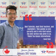 Our Student @Rushi Patel has attained his student visa for #Canada and will be starting college in the #JanIntake2017! Visit: http://www.kananinternational.com/ for more.