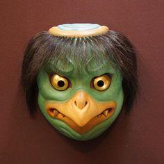 Japanese Mask, Korean Art, Kappa, Masks, Creatures, Toys, Instagram, Activity Toys, Clearance Toys