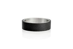 Concrete ring Gravelli Simple in anthracite variant. Concrete Ring, Fashion Accessories, Minimalist, Wedding Rings, Stainless Steel, Engagement Rings, Jewels, Simple, Earrings